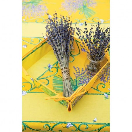 Bread Basket printed Lavender Bouquet