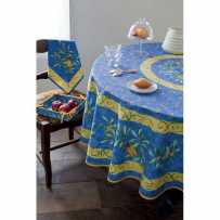 Outdoor tablecloth Provencal printed Cigales in scene
