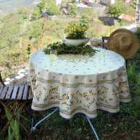 Provence tablecloth round shape printed Moustiers
