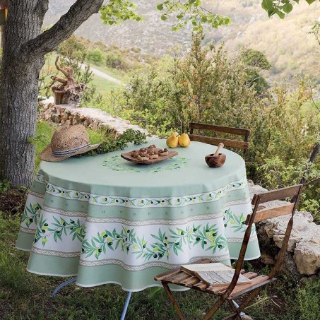 Fantastic 70 Inch Round Tablecloth Ramatuelle Print Caraccident5 Cool Chair Designs And Ideas Caraccident5Info