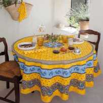 Tablecloth for round table Tradition Marat d'Avignon