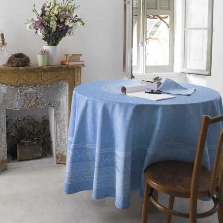 blue table cloth Jacquard Durance, Marat d'Avignon