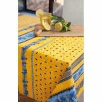 Nappe carrée en coton imprimé tradition rayure
