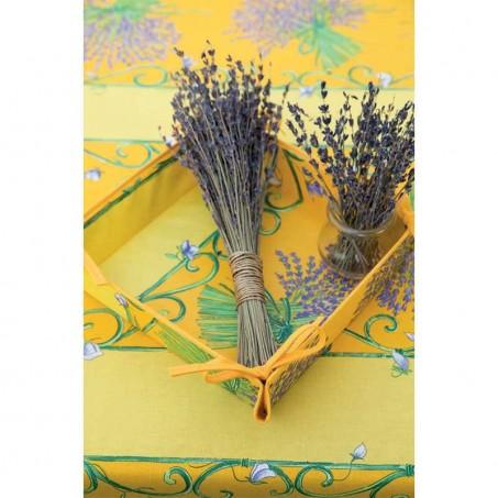 Nappe rectangulaire en coton, imprimé Bouquet de lavande
