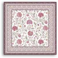 Tapis de table carrée Montespan lilas