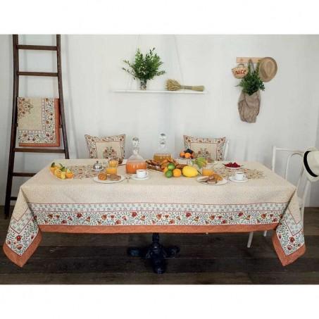 Rectangular table mat Aubrac in scene