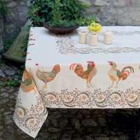 Tapis de table rectangulaire Chanteclair in scene