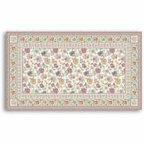 Rectangular table mat Garance blue