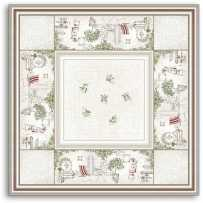 Square table mat Gordes