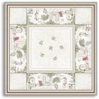 Square table mat Gordes
