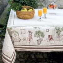 Tapis de table rectangulaire Gordes mis en scène