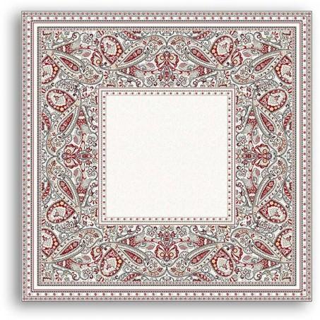 Square sofa plaid, Cashmir by Marat d'Avignon red
