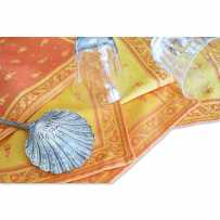 serviette de table en tissu tissé jacquard collection durance