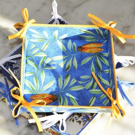 corbeille à pain en tissu, imprimé provençal Cigale