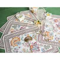 Sets de table rectangulaire, tissé Jacquard Garance