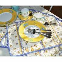 Sets de table matelassé, imprimé Moustiers