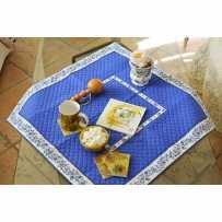 Tapis de table matelassé, imprimé provençal Calissons Fleurette