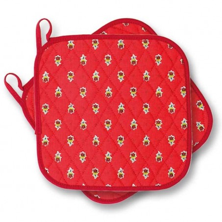 Unique and best kitchen pot holders in red from Provence