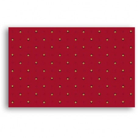 Colorful tablecloths, cotton printed Calissons red