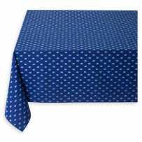 Nappe rectangulaire en coton, imprimé Avignon allover bleu