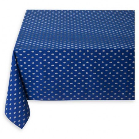 Dining table cloth, Avignon allover by Marat d'Avignon blue