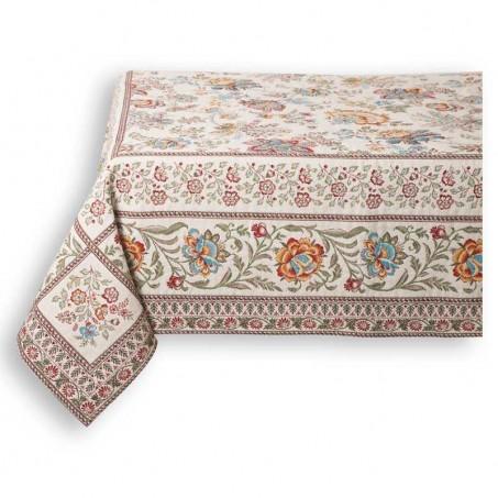 Rectangular table mat Garance blue