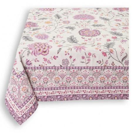 Decorative tablecloth, woven Jacquard Montespan lilac