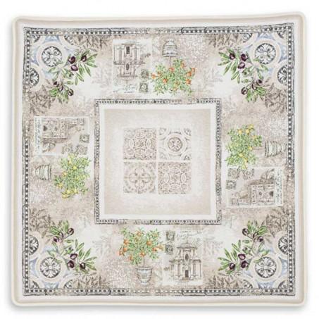 Square table mat, Jacquard Riviera