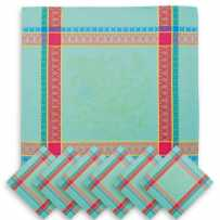 easter cloth napkins in jacquard woven fabric from provencal brand Marat d'avignon