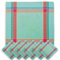 lot serviette de table provençale en tissu jacquard