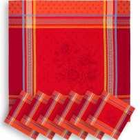 serviette de table rouge en tissu pour noel