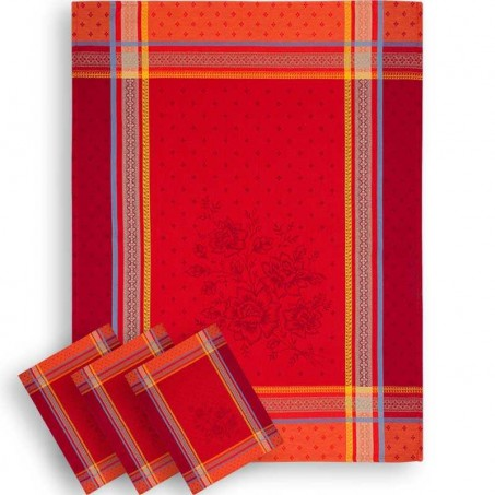 french red kitchen towels for christmas