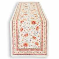 chemin de table orange tissu