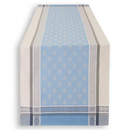 60 inch table runner in woven jacquard