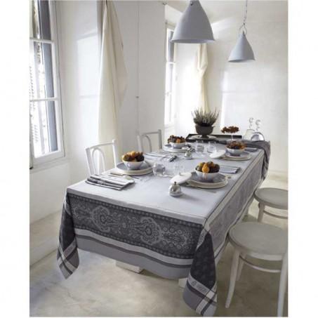 grey linen tablecoth