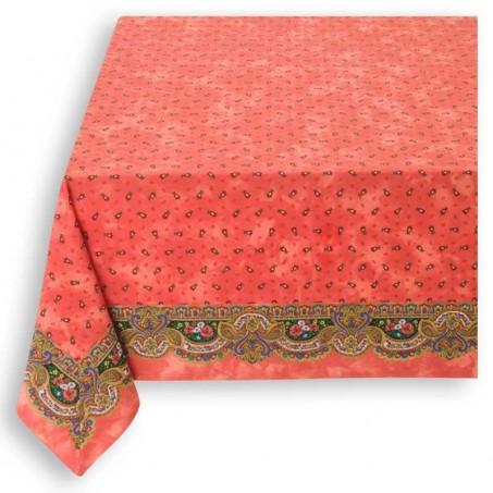 Framed 60x60 tablecloth orange color