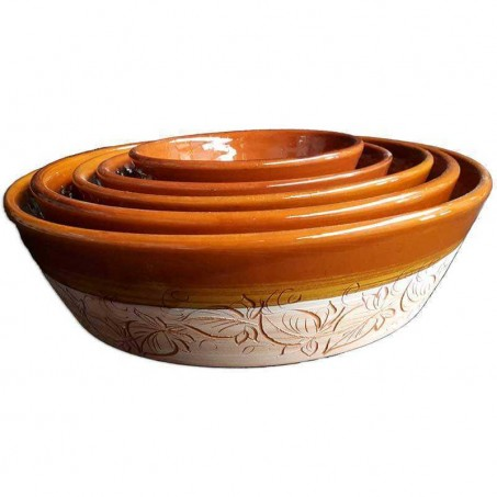 Terracotta salad serving bowl made in Vallauris