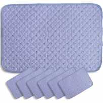 placemats rectangular Calissons lavender