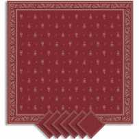 Serviettes de table carrées, tissé Jacquard Durance rouge