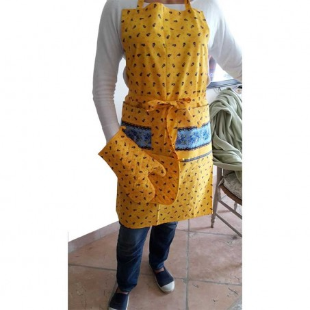 Baking apron for women, Tradition by Marat d'Avignon yellow