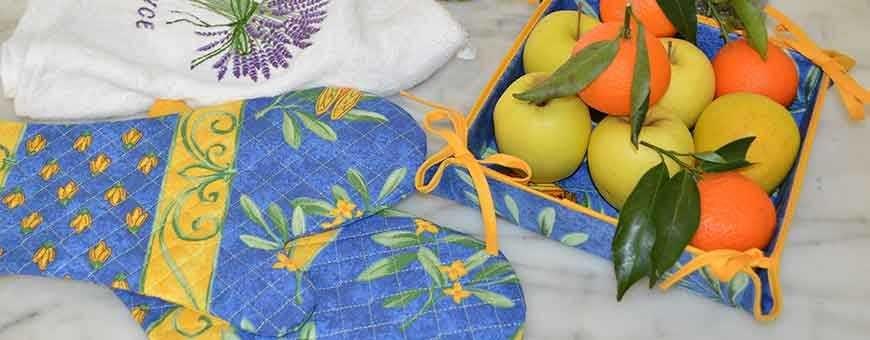 Appréciez la qualité du linge de maison provençal pour votre cuisine !