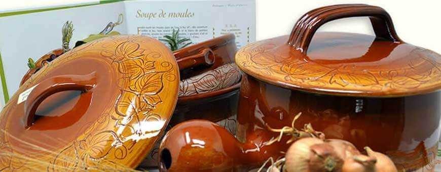 Poterie culinaire artisanale Vallauris - Une cuisson saine et idéale !