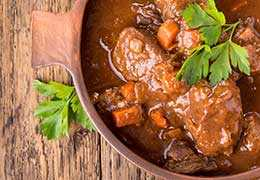 White wine lamb daube recipe from Vaucluse area